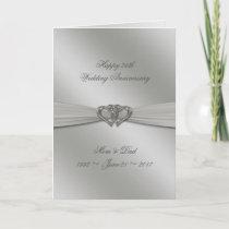Classic Silver 25th Wedding Anniversary Card