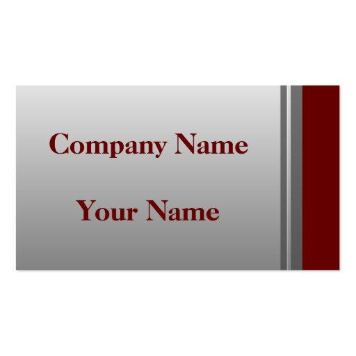 Classic Silver And Red Business Cards