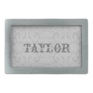 Classic Silver Buckle - Personalize w/Name Rectangular Belt Buckle