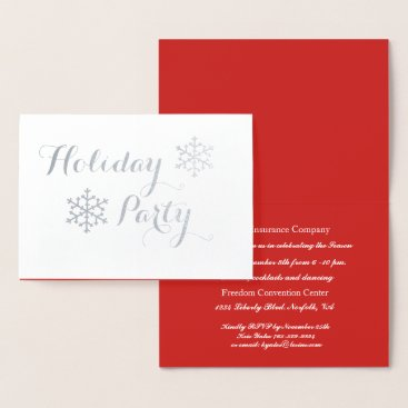 Professional Business Classic Silver Corporate Holiday Party Invitation