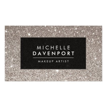 Girly business cards classic silver glitter makeup artist business card colourmoves