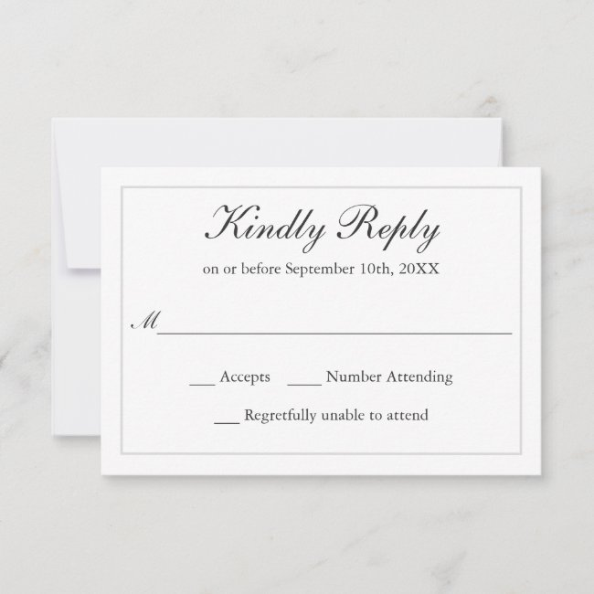 Classic Simple Elegance Wedding RSVP