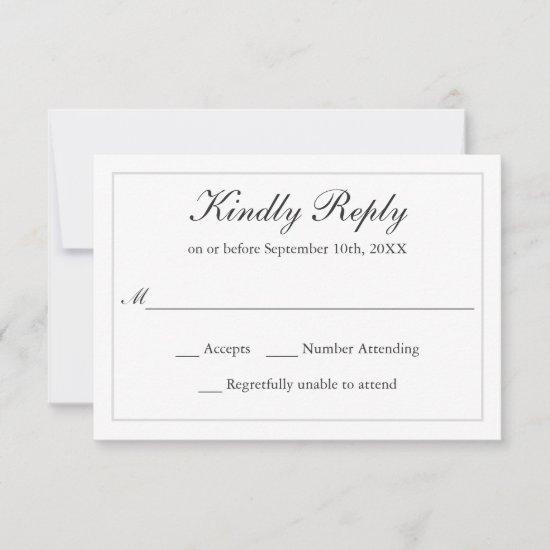 Classic Simple Elegance Wedding RSVP