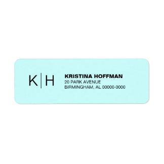 Classic Simple Monogram Return Address Return Address Label