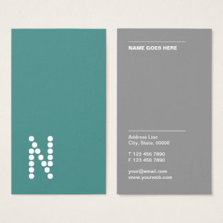 Classic Simple Professional Vertical Business Card