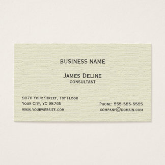 Classic Simple Textured Old White Consultant Business Card