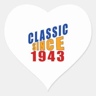 Classic Since 1943 Heart Sticker