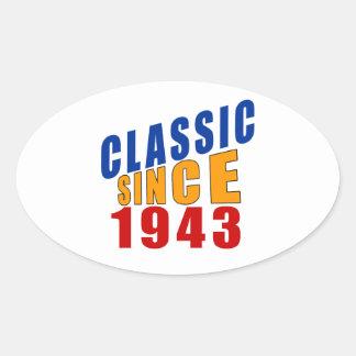 Classic Since 1943 Oval Sticker