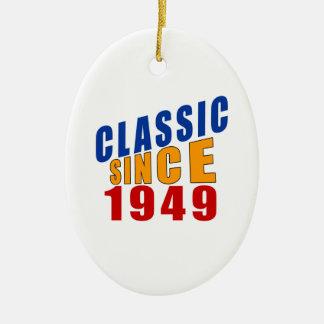 Classic Since 1949 Ceramic Ornament