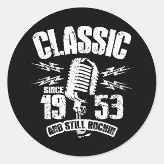 Classic Since 1953 And Still Rockin Classic Round Sticker