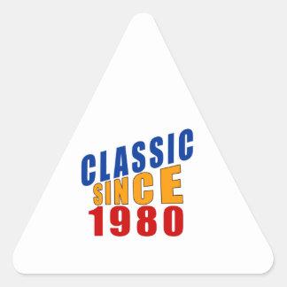Classic Since 1980 Triangle Sticker