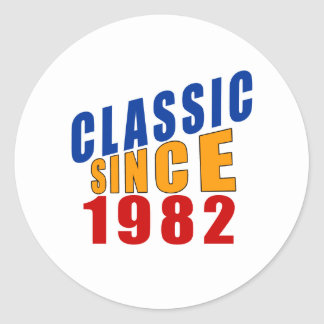 Classic Since 1982 Classic Round Sticker