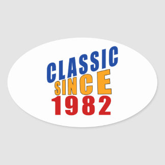 Classic Since 1982 Oval Sticker