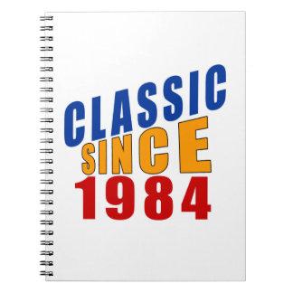 Classic Since 1984 Spiral Notebook