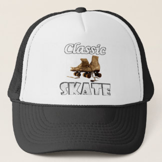 Classic Skate Vintage Leather Roller Skates Trucker Hat