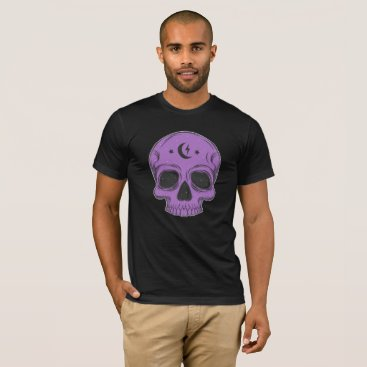 Halloween Themed Classic Skull Design T-Shirt