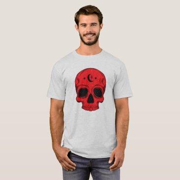 Halloween Themed Classic Skull Design T-Shirt