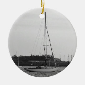 Classic Sloop Christmas Ornament