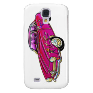 Classic Small Pink Sports Car Samsung Galaxy S4 Cases