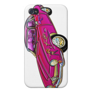 Classic Small Pink Sports Car Covers For iPhone 4