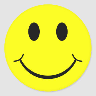 Classic Smiley Face Classic Round Sticker