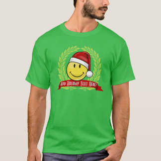 Classic Smiley Face Holiday Style T-Shirt