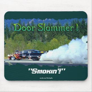 Classic Smoking Doorslammer Race Car Collectible Mousepads