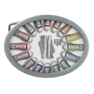 Classic Sneakers Circle Belt Buckle