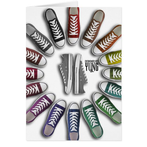 Classic Sneakers Circle Greeting Card