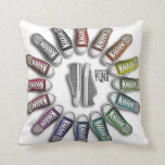 Classic Sneakers Circle Pillow