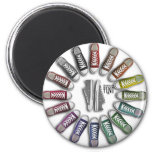 Classic Sneakers Circle Refrigerator Magnet