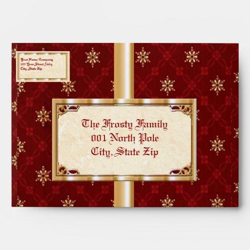 Classic Snowflake Envelopes