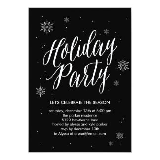 Classic Snowflakes Holiday Party Invitation