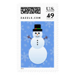 Classic Snowman Custom Postage Stamps