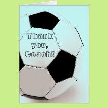 Classic soccer ball - thank you, Coach Card