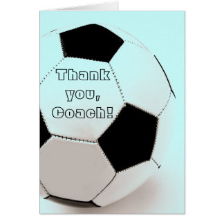 Classic soccer ball - thank you, Coach Card
