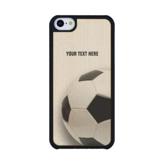 Classic Soccer | Football Carved® Maple iPhone 5C Case