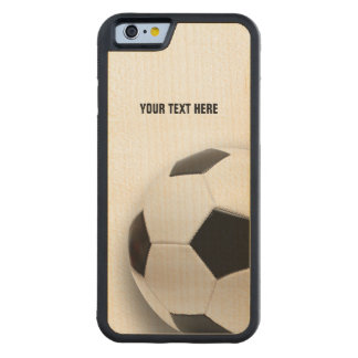 Classic Soccer | Football Carved Maple iPhone 6 Bumper Case