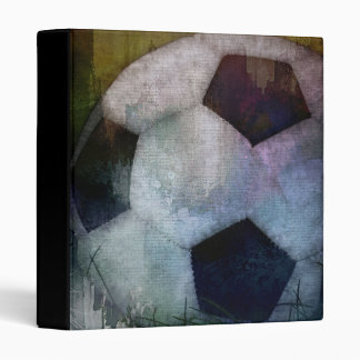 "Classic Soccer Textured Painting 1"" Scrapbook Binder"