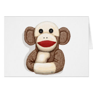 Classic Sock Monkey Greeting Cards