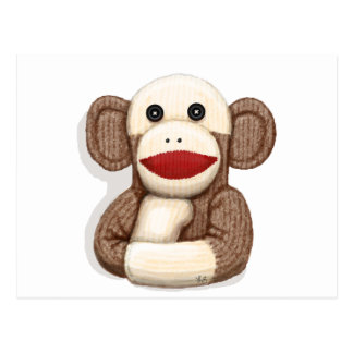 Classic Sock Monkey Postcard