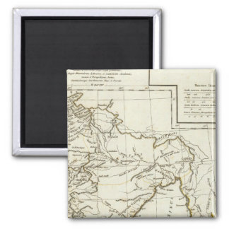 Classic South Asian Map 2 Inch Square Magnet