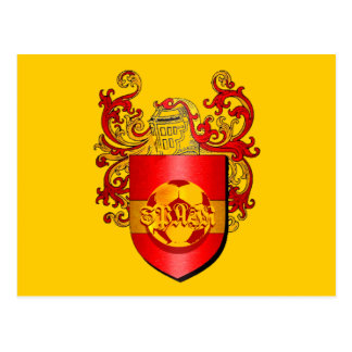 Classic Spanish Soccer Futbol coat of arms Postcard