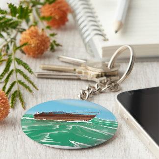 Classic Speedboat Keychain