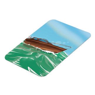 Classic Speedboat Magnet