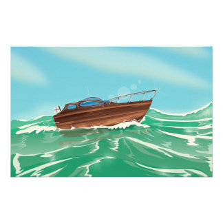 Classic Speedboat Stationery