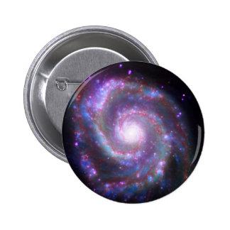 Classic Spiral Galaxy Button
