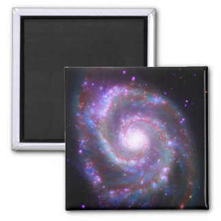 Classic Spiral Galaxy 2 Inch Square Magnet