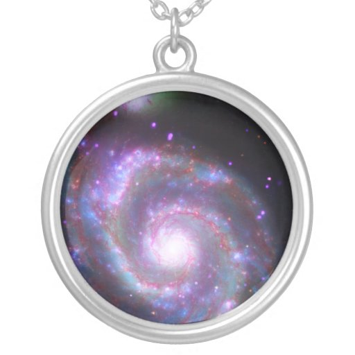 Classic Spiral Galaxy Personalized Necklace