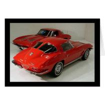 Classic Split Window Cars Card